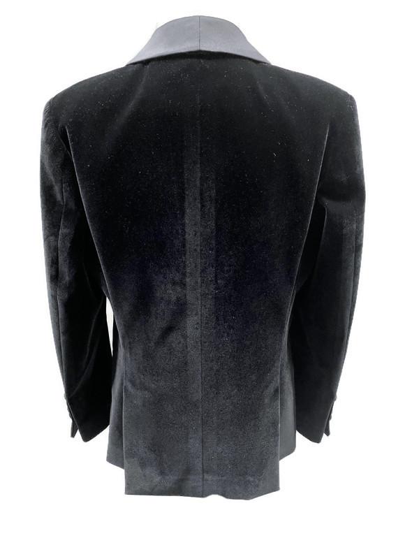 643 / BLACK / VELVET SLIM FIT JACKET 1/7