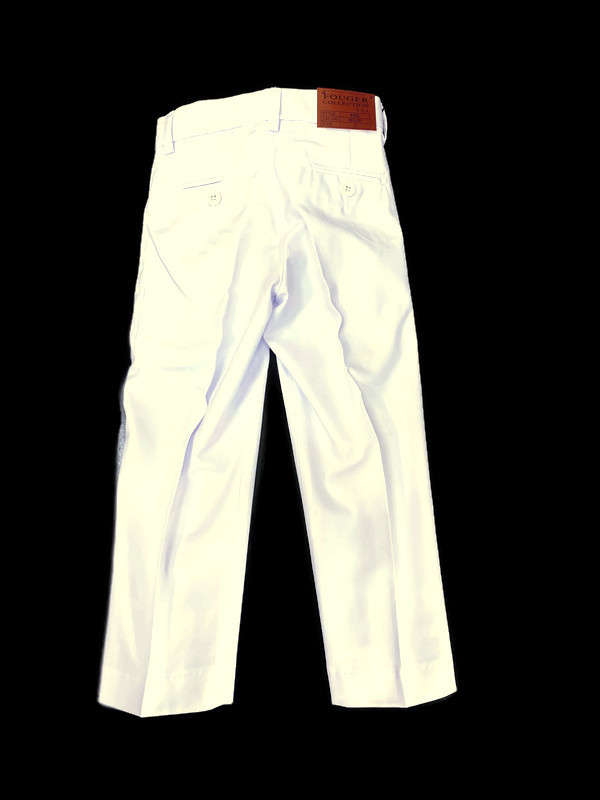 500 / WHITE / SLIM FIT PANTS -2