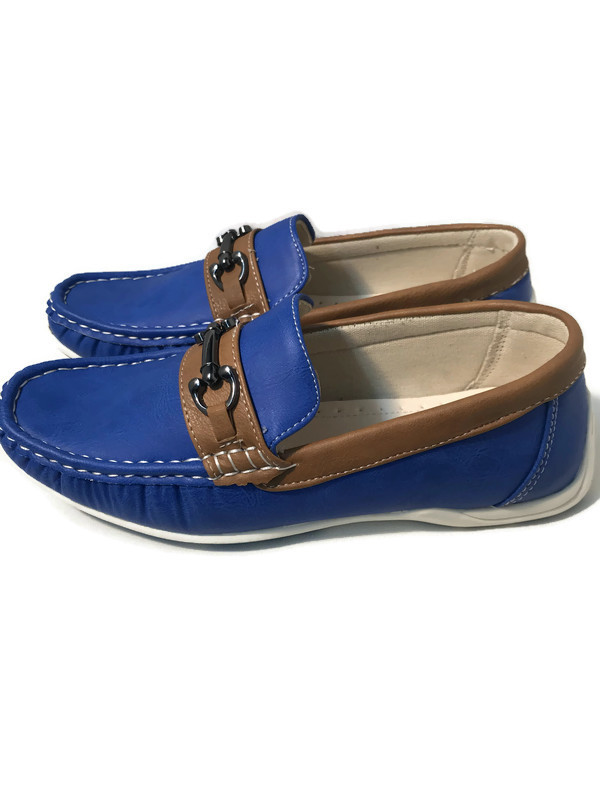 732 / BLUE/BROWN / SHOES
