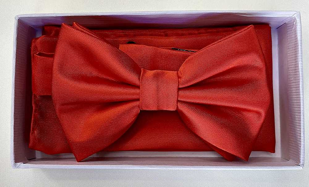 * BOW & HANKY / TOMATO RED / Bow and Handy W