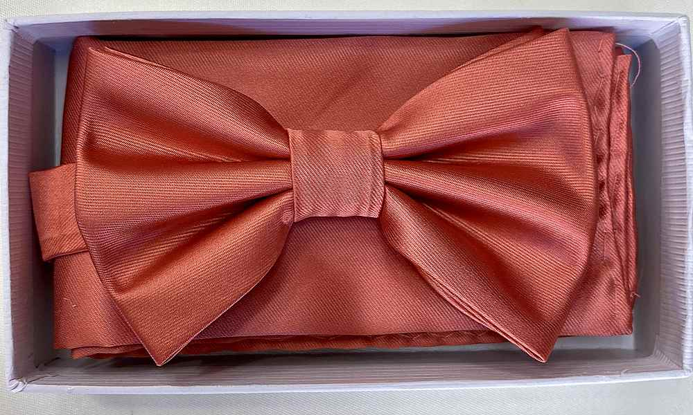 * BOW & HANKY / CORAL / Bow and Handy W