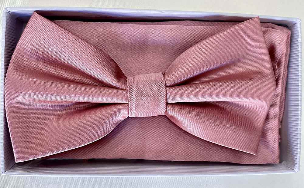 * BOW & HANKY / DUSTY ROSE / Bow and Handy W