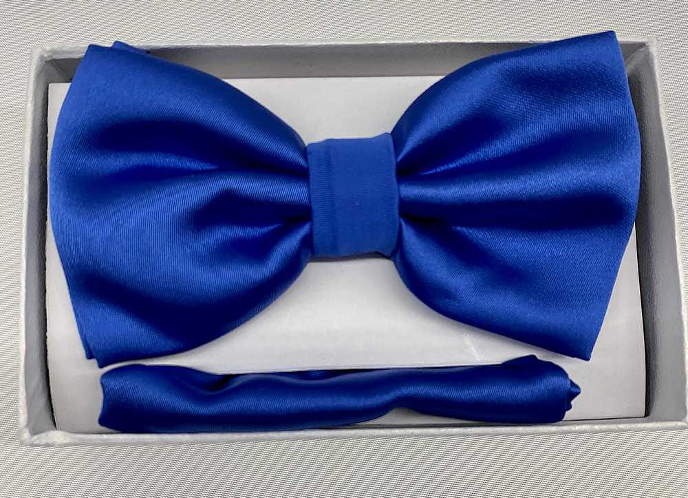 * BOW & HANKY / ROYAL BLUE / Bow and Handy W