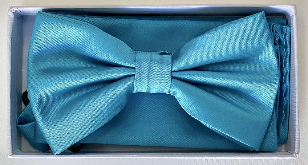 * BOW & HANKY / TURQUOISE / Bow and Handy W