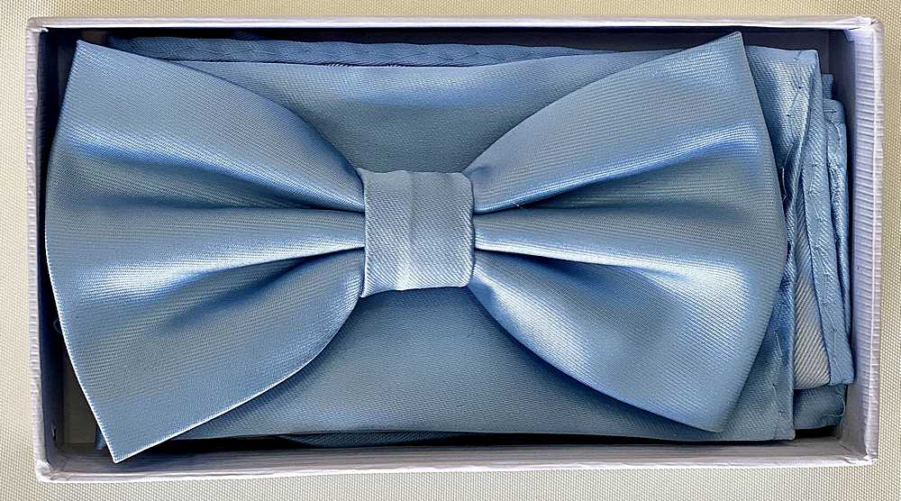 * BOW & HANKY / BABY BLUE / Bow and Handy W