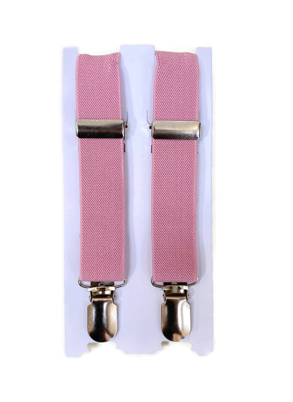 *SUSPENDERS B / DUSTY ROSE / Toddler and Youth Suspenders