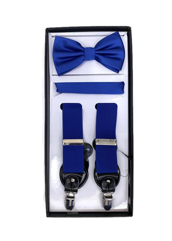 *SUSPENDER 3 M / ROYAL BLUE I / Men's Three Piece Suspender Set