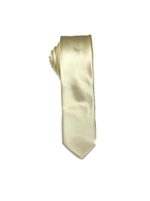 * MENS TIE / LIGHT YELLOW D / Men's Regular Tie