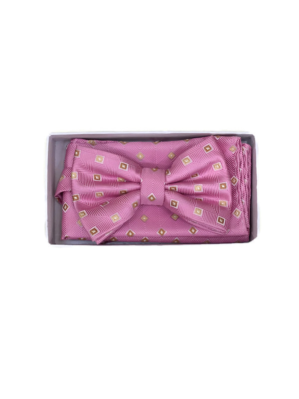 * BOW & HANKY D / DARK PINK 3436C / Bow and Hanky With Design