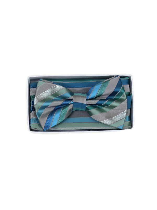 * BOW & HANKY D / TURQUOISE T605A / Bow and Hanky With Design