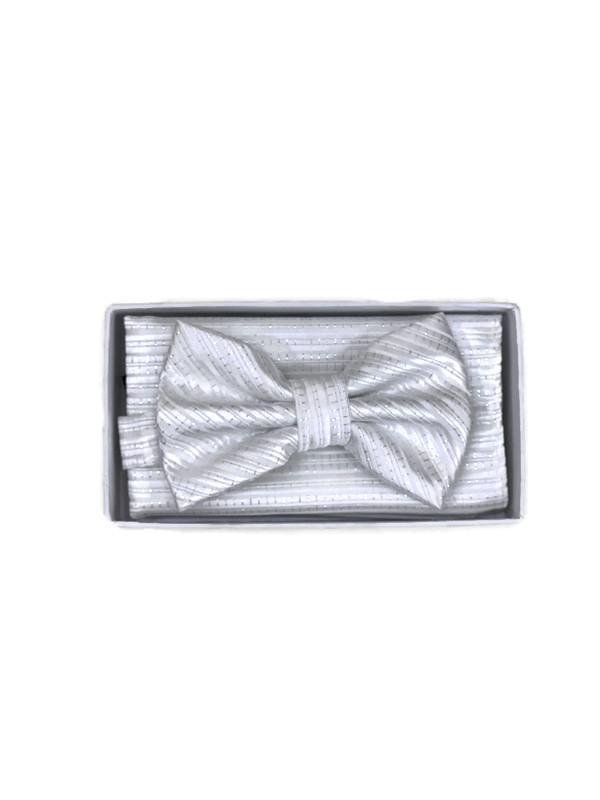 * BOW & HANKY D / WHITE BT108B / Bow and Hanky With Design