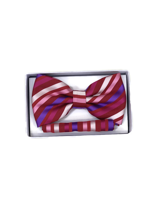 * BOW & HANKY D / RED STRIPE 2 / Bow and Hanky With Design