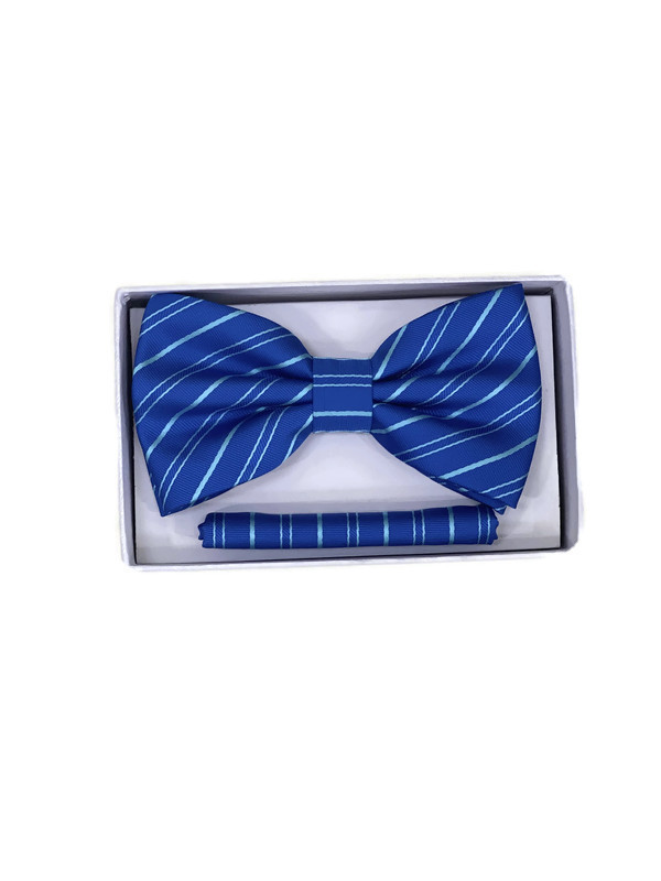 * BOW & HANKY D / BLUE AQUA STR 6 / Bow and Hanky With Design
