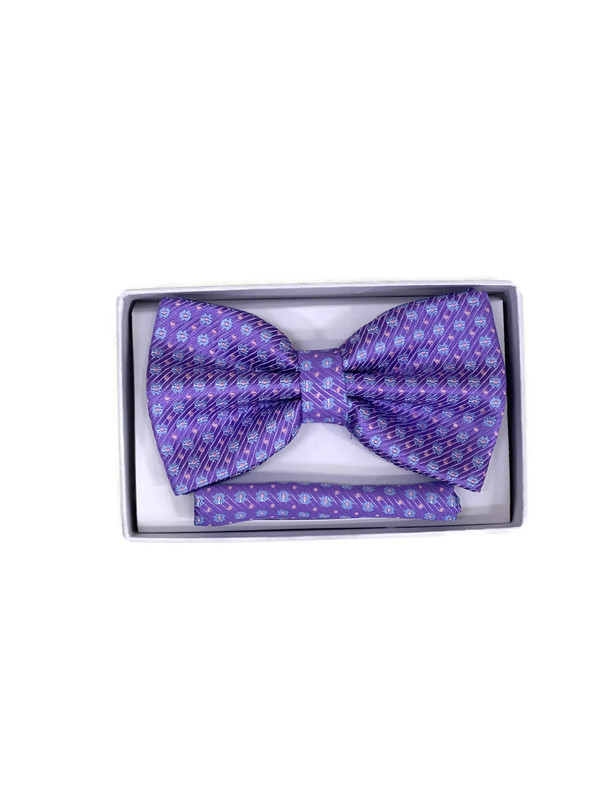 * BOW & HANKY D / LIGHT PURPLE 9 / Bow and Hanky With Design