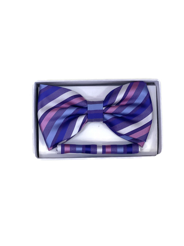* BOW & HANKY D / PURPLE STR 10 / Bow and Hanky With Design