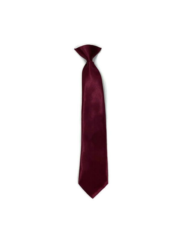 * CLIP-ON TIE / DARK BURGUNDY / Clip-on Tie