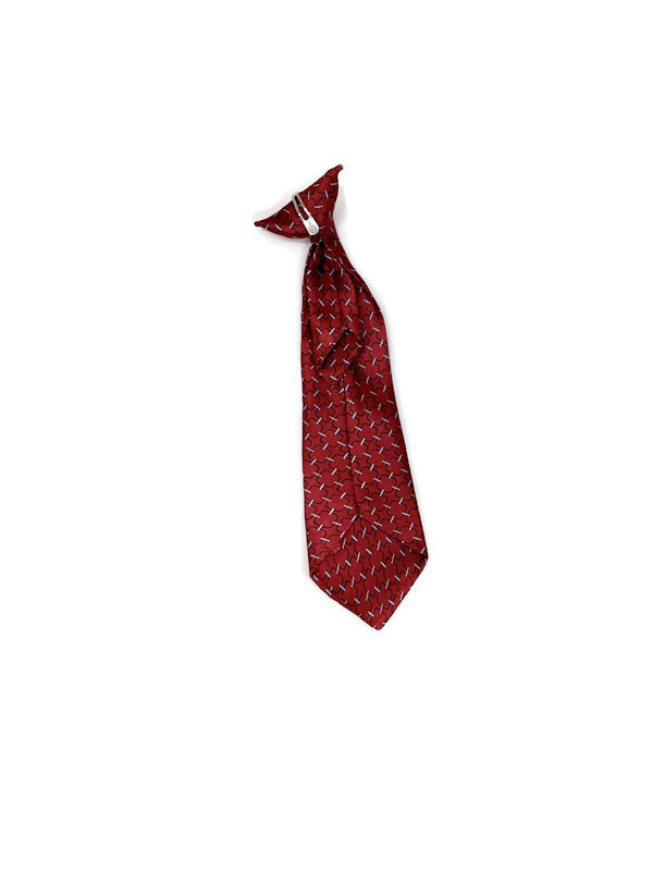 * CLIP-ON TIE P / BURGUNDY 13 / Clip-on Patterned Tie