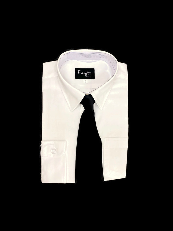 *SHIRT & TIE / WHITE / Regular Fit Shirt and Tie Set