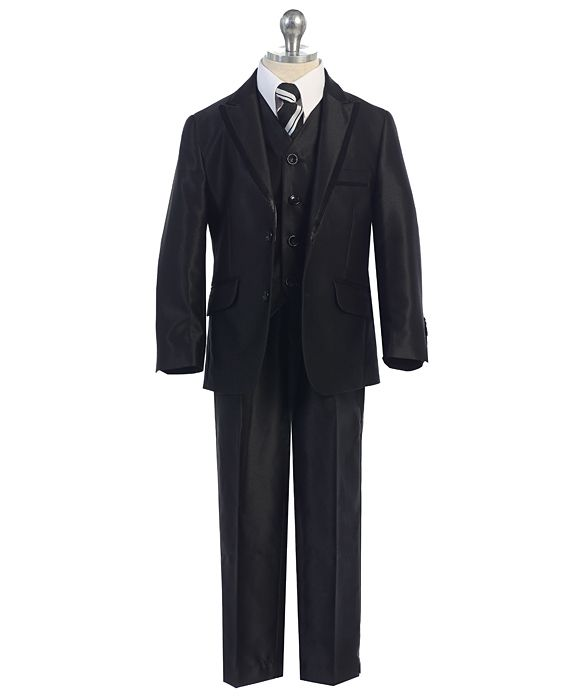 XF-628-8224 / 3 PC SUIT SLIM FIT SUIT 1-7 / BLACK/SHINY