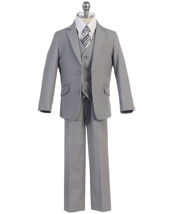 F-693=1296 / 3 PC SLIM FIT SUIT 18-20 / GRAY