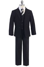 F-650 / 3 PC SLIM FIT SUIT 1-7 / BLACK