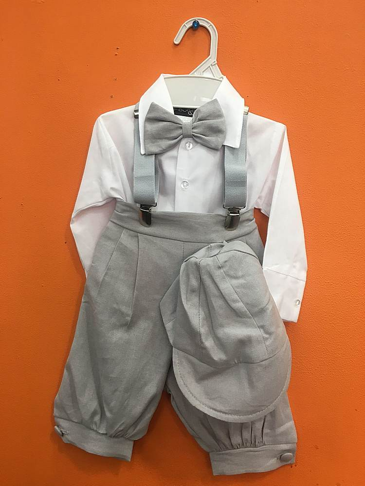 106 / BABY SET / L-GRAY/WHITE