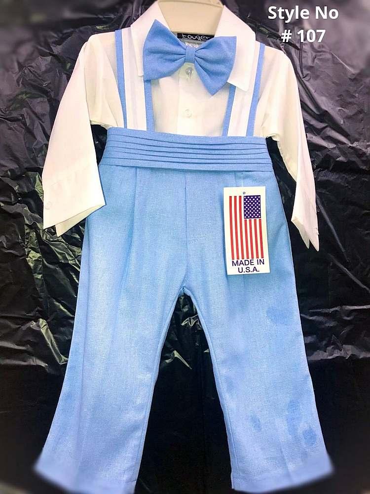 107 / BABY BOY'S SET 6M-24M / L BLUE/WHITE