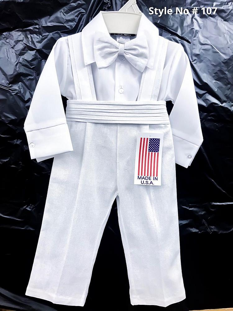 107 / BABY BOY'S SET 6M-24M / WHITE/WHITE