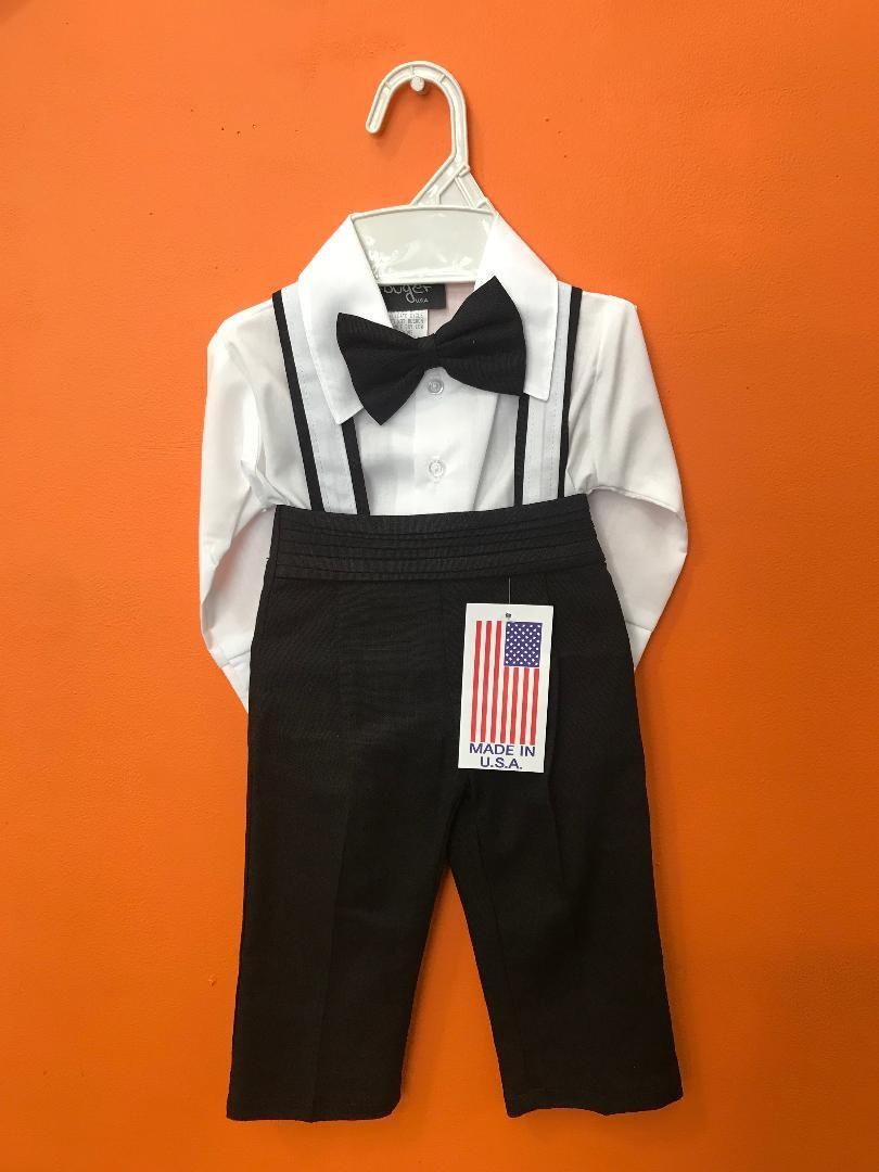 107 / BABY BOY'S SET 6M-24M / BLACK/WHITE