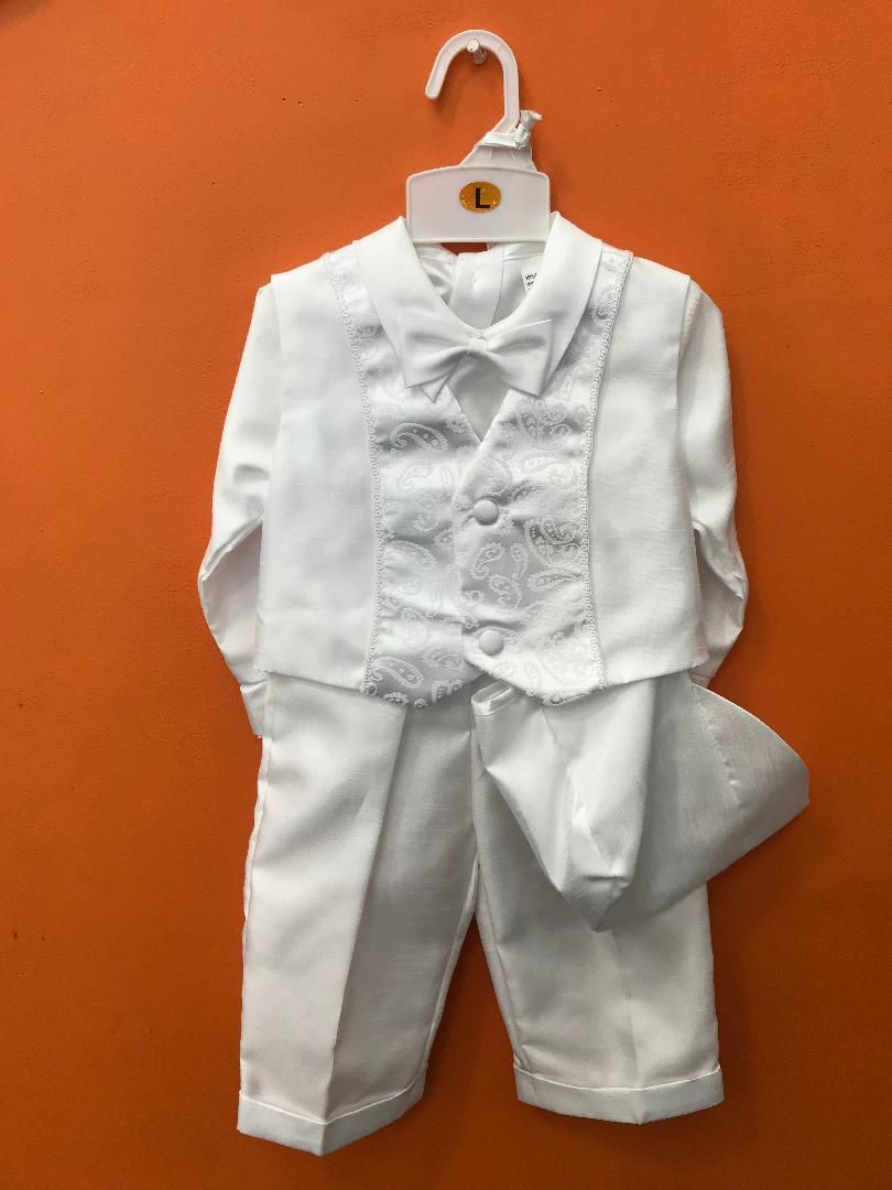 X425 / SHANTON BOY VEST SET XS-XL / WHITE