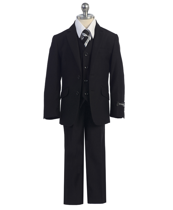 F-728 / 3 PC SLIM FIT SUIT 1-7 / BLACK