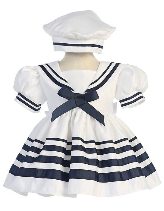 X167 / SAILOR DRESS& HAT 4 STRIP[S/XL][2-5] / WHITE