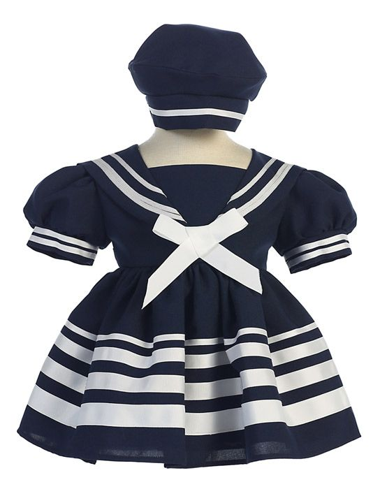 167 / SAILOR DRESS& HAT 4 STRIP[S/XL][2-5] / NAVY