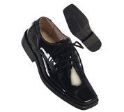729 / BLACK SHINY LASCE SHOES 7-8-9-10-11-12 / BLACK SHINY7-12
