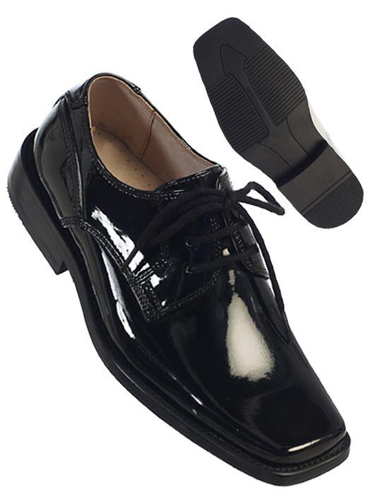 729 / BLACK SHINY LASE SHOES 13-1-2-3 / BLACK SHINY13-3